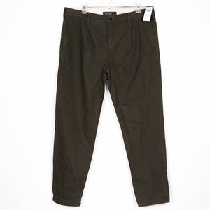 NEW Abercrombie & Fitch Button Fly Chinos Olive 34